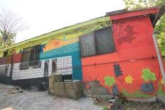 Vista da vila da pintura mural de Seoul Ihwa Fotos de Stock