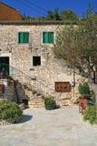 Vista da vila de Frikes, Ithaca, ilha Ionian Fotos de Stock Royalty Free