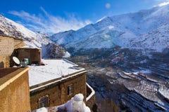 Vista da vila de Imlil em c4marraquexe, Marrocos Fotografia de Stock