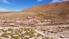 Vista da vila do adôbe de Machuca, o Chile foto de stock royalty free