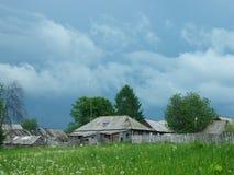Vista da vila velha do russo foto de stock