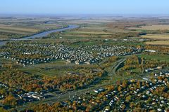 Vista da vizinhança suburbana Foto de Stock