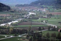 Vista da Wolfsberg vicino a Dietfurt in Germania Ottmaring può essere visto Immagine Stock Libera da Diritti
