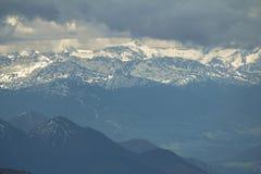 Vista da Zugspitze, alpi. Fotografia Stock