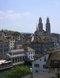 Vista da Zurique da vigia Imagens de Stock Royalty Free