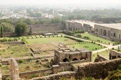 Giardini, fortificazione di Golcanda Fotografia Stock Libera da Diritti