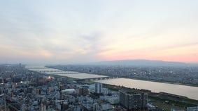 """Vista dal ¤ãƒ """"ム""""del 'del ã del '""""del ã del ¹ del 'del °ã del ç"""" del æ¢ della costruzione del cielo di Umeda… Fotografia Stock"""