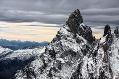 Vista dal ` Aosta di Monte Bianco Mont Blanc Valle d Fotografie Stock Libere da Diritti