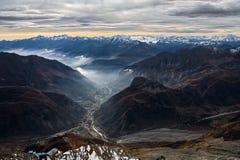 Vista dal ` Aosta di Monte Bianco Mont Blanc Valle d Fotografia Stock