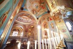 Vista dal balcone all'interno della cattedrale Fotografia Stock
