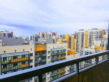 Vista dal balcone alle nuove aree della città, nuovo pannello multi-APAR Immagine Stock Libera da Diritti