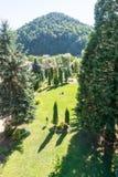 Vista dal balcone del cortile nel monastero Bulgaria di Troyan Fotografia Stock Libera da Diritti