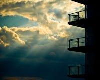 Vista dal balcone, Manchester fotografia stock libera da diritti