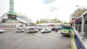 Vista dal bus turistico commovente sulla strada e video d archivio