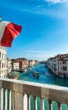 Vista dal Ca Foscari di Grand Canal Fotografia Stock Libera da Diritti