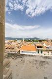 Vista dal campanile nella spaccatura Fotografia Stock Libera da Diritti