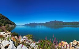 Vista dal Carretera australe, Puyuhuapi, Patagonia, Cile Fotografie Stock
