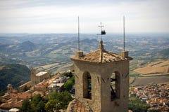 Vista dal castello del San Marino Fotografia Stock