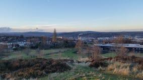 Vista dal castello della proprietà terriera Immagine Stock