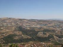 Vista dal castello di Ajloun Immagini Stock Libere da Diritti
