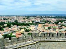 Vista dal castello di Carcassona Immagine Stock Libera da Diritti