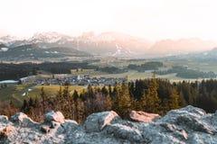 Vista dal castello di Eisenberg fotografia stock