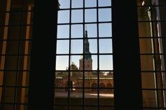 Vista dal castello di Frederiksborg denmark fotografia stock libera da diritti