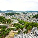 Vista dal castello di Himeji fotografia stock
