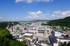 Vista dal castello di Hohensalzburg - Salisburgo, Aus Immagini Stock
