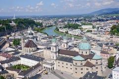 Vista dal castello di Hohensalzburg - Salisburgo, Aus Immagine Stock