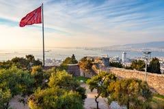 Vista dal castello di Kadifekale, localmente conosciuto come Kadifekale fotografie stock libere da diritti