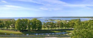 Vista dal castello di Kuressaare Immagini Stock Libere da Diritti