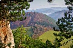 Vista dal castello di Lietava Fotografia Stock