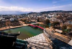 Vista dal castello di Matsumoto Fotografia Stock Libera da Diritti
