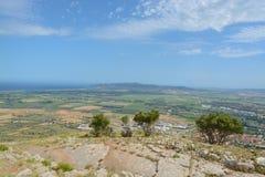 Vista dal castello di Montgri Fotografia Stock