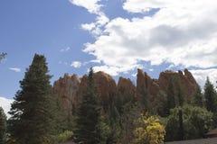 Vista dal castello di nido di rapace Fotografia Stock