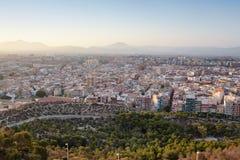 Vista dal castello Santa Barbara, Alicante Fotografia Stock Libera da Diritti
