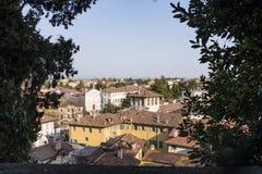 Vista dal castello Udine alla città Udine Immagini Stock Libere da Diritti