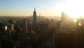 Vista dal centro di Rockefeller Immagine Stock