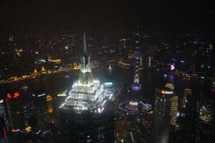 Vista dal centro finanziario del mondo di Shanghai Immagini Stock