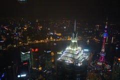 Vista dal centro finanziario del mondo di Shanghai Immagine Stock Libera da Diritti