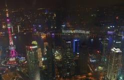 Vista dal centro finanziario del mondo di Shanghai Fotografie Stock