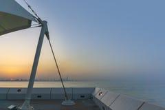Vista dal centro scientifico del Kuwait fotografie stock libere da diritti