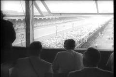 Vista dal contenitore di stampa a Indianapolis Motor Speedway video d archivio