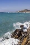 Vista dal costiero ciclabile di parco di Pista Fotografie Stock Libere da Diritti