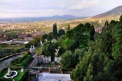 Vista dal d'Este della villa Immagine Stock