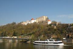 Vista dal Danubio Fotografie Stock Libere da Diritti