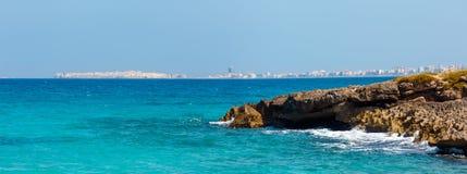 Vista dal della Suina, Salento, Italia di Punta della spiaggia Fotografia Stock