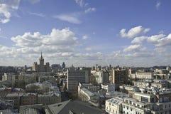 Vista dal di cui sopra a Mosca Fotografie Stock Libere da Diritti