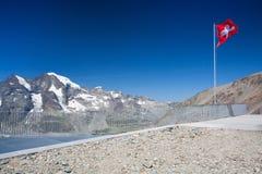Vista dal Diavolezza alle montagne ed ai ghiacciai Immagine Stock Libera da Diritti